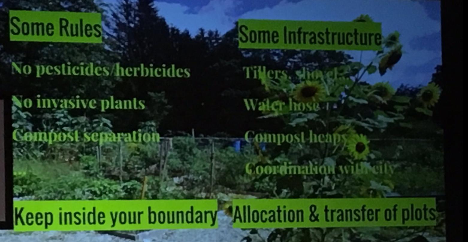 Community garden basic rules